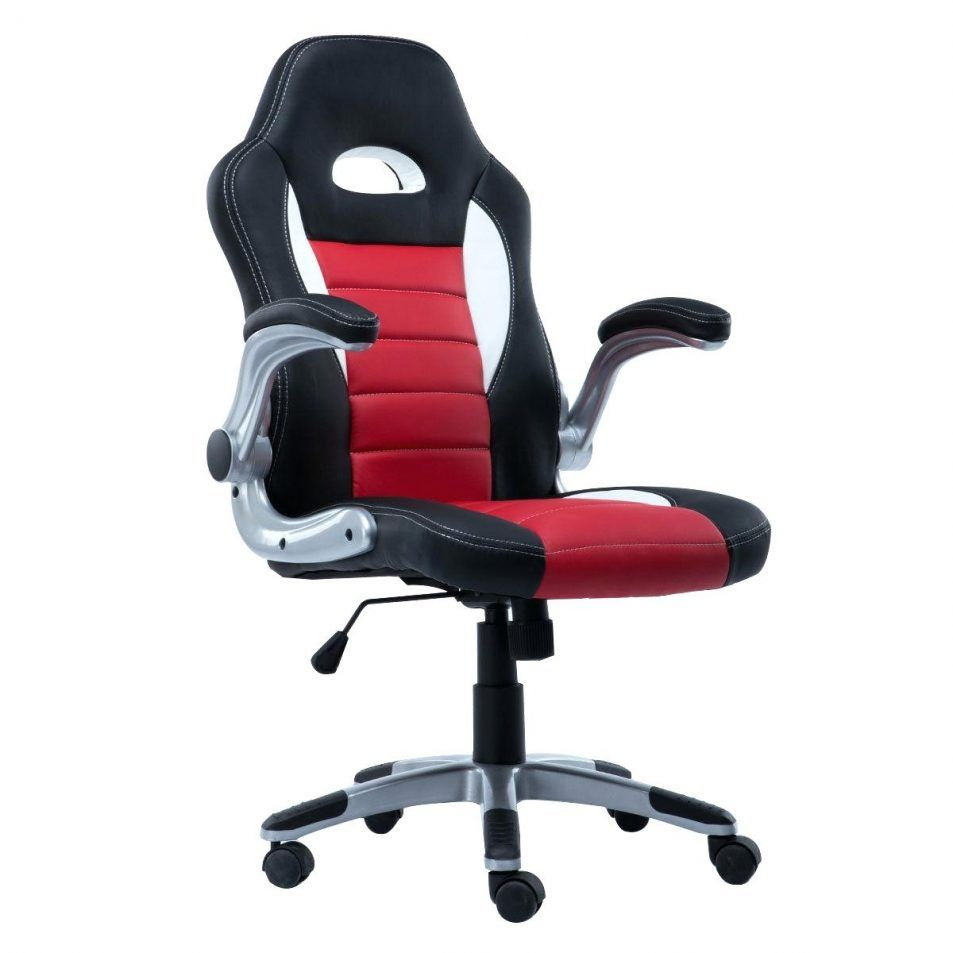 office bucket chair. PU Leather Executive Racing Style Bucket Seat Chair Sporty Office Desk New