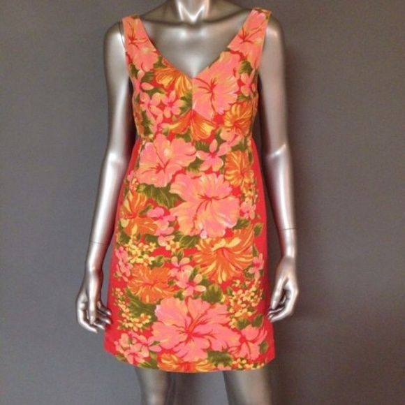 7a34e9117b01f Tracy Feith for Target floral dress Tracy Feith for Target coral hibiscus  print dress. Size