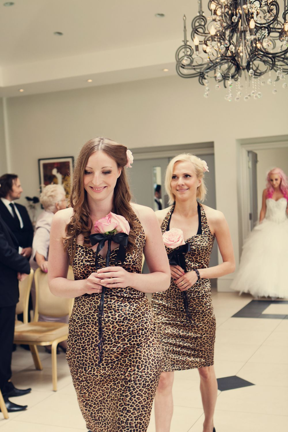 A pink leopard print themed diy wedding very different dont a pink leopard print bridesmaid dresses ombrellifo Image collections