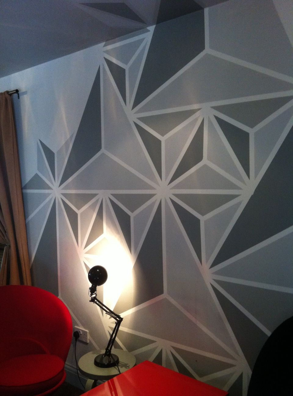 Geometric Design Wall Art : What colour to paint geometric update walls bar and