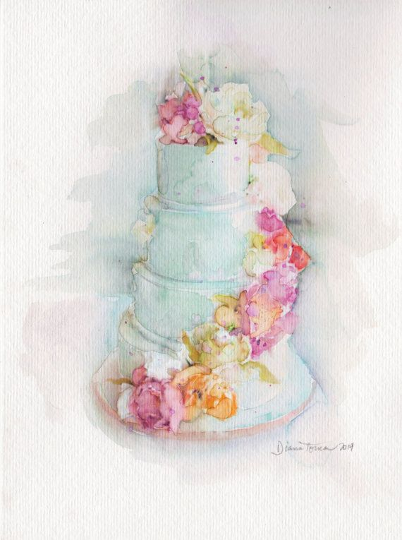 Wedding Cake Fine Art Print By Artbydianatoma On Etsy Wedding