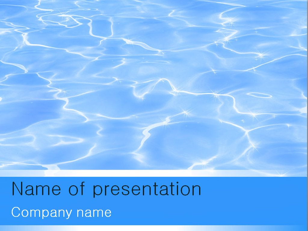 Download Free Blue Water Powerpoint Template For Presentation