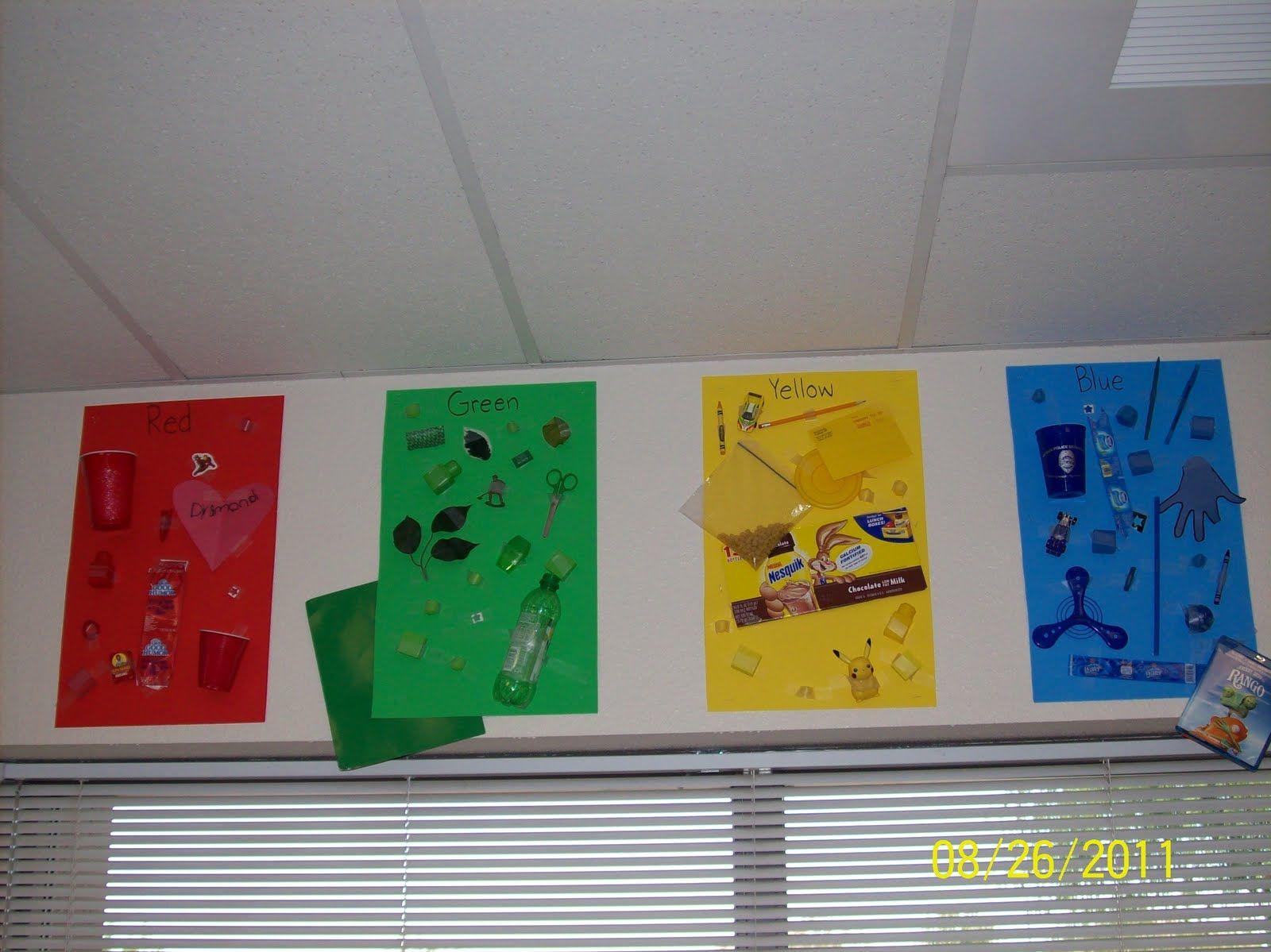 kindergarten color word poster -a possible \