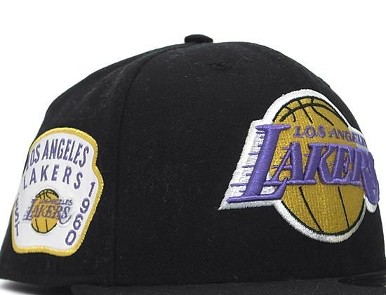 43069f659a8 Los Angeles Lakers Side Patch 59Fifty Fitted Baseball Cap by NEW ERA x NBA