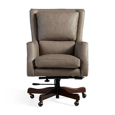 Terrific Alex Leather Desk Chair In Dolomiti Trail Products Theyellowbook Wood Chair Design Ideas Theyellowbookinfo