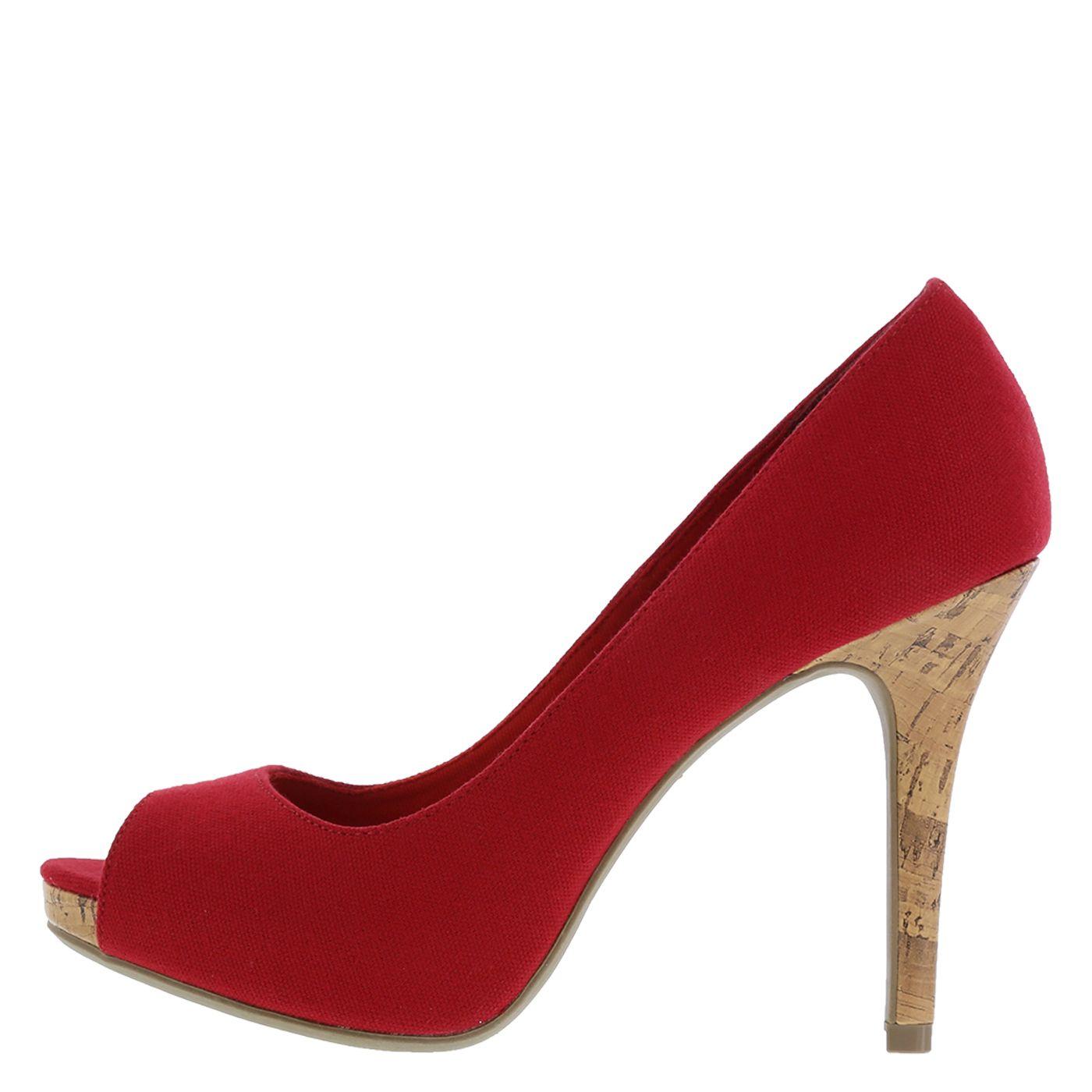 Christian Siriano Spring 2015 Women S Red Kate Platform Peep Toe Pump Payless Shoesource Platform Pumps Club Heels Peep Toe Pumps