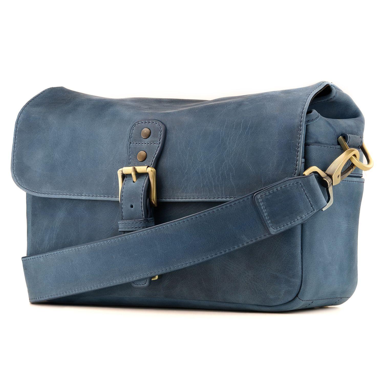 Leather Megagear Genuine Camera Messenger Bag
