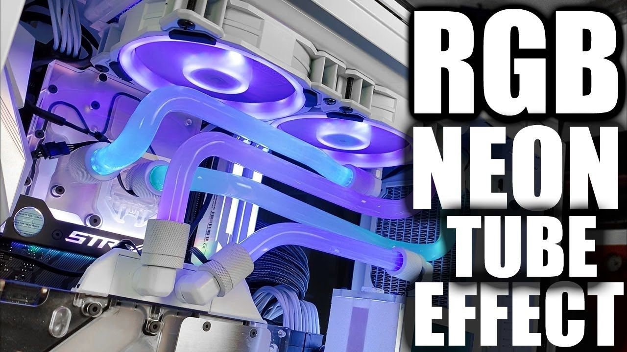 Neon Rgb Hard Line Tube Mod Lighting Effect For Pc Water Cooling