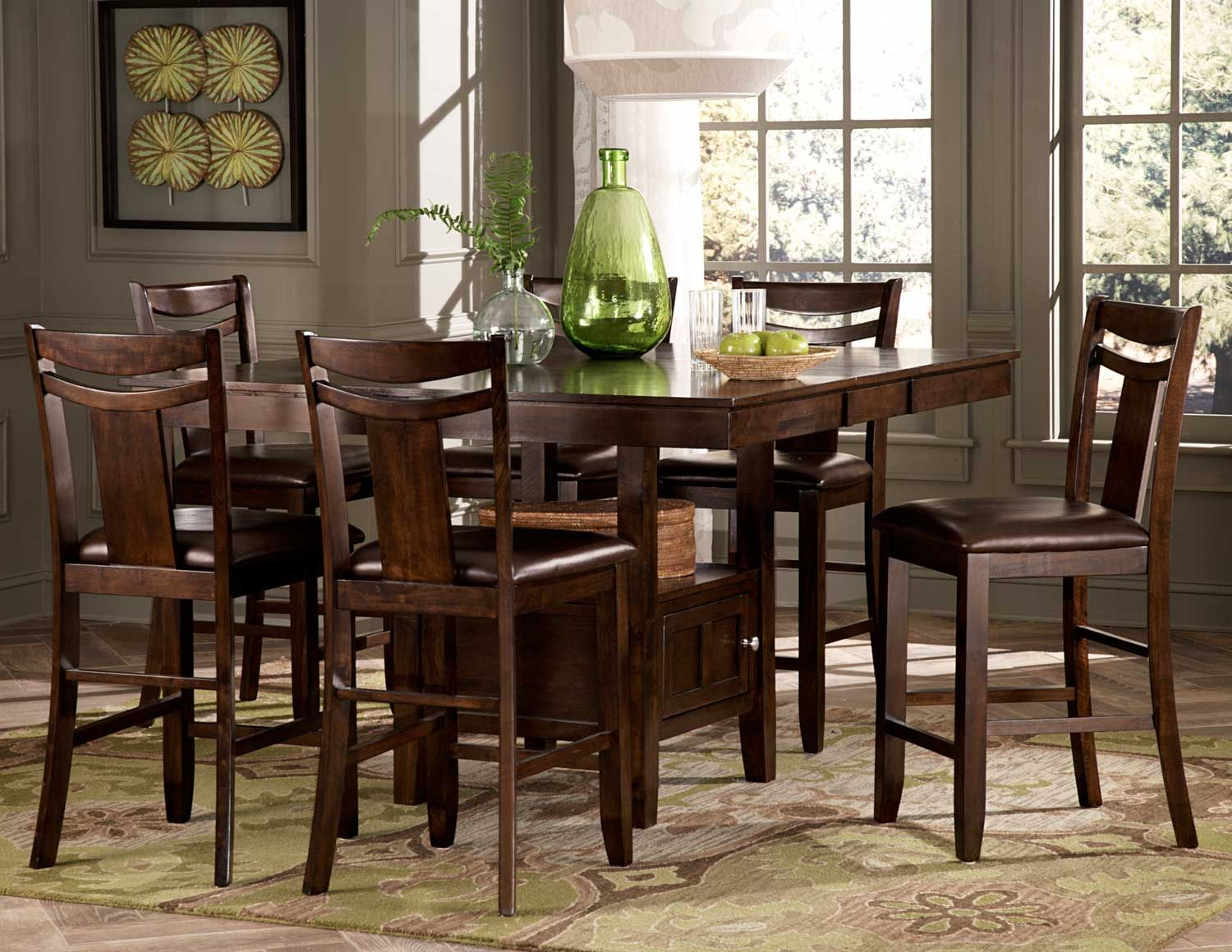 Homelegance 2524 36 Broome Counter Height Dining Table Set