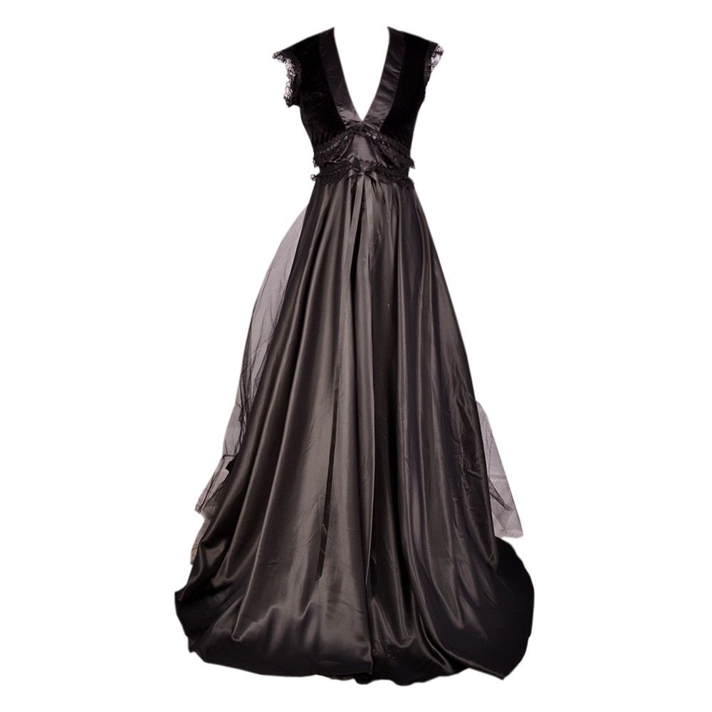 Long black lace overlay gothic dress long black gothic and overlay