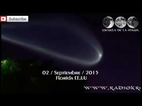 ¿OVNI Ó COHETE SOBRE LA FLORIDA? / UFO Spiral Over Miami, / Septiembre 2015
