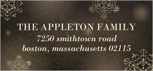 Sparkling Love Address Label | Christmas Address Labels