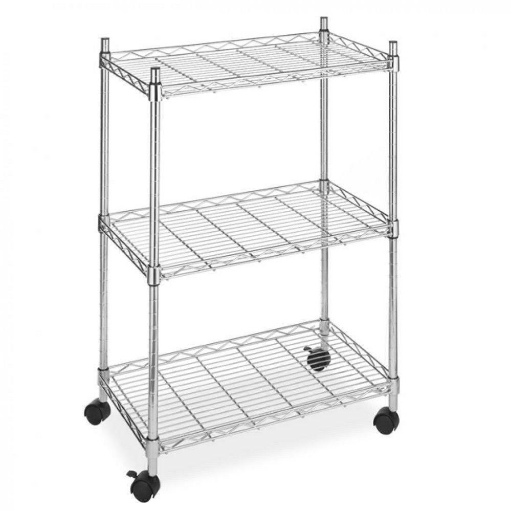 3 Tier Shelf Steel Wire Metal Shelving Rack Metro Commercial ...