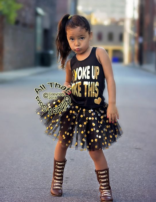Black And Gold I Woke Up Like This Shirts For Toddler Girls Http