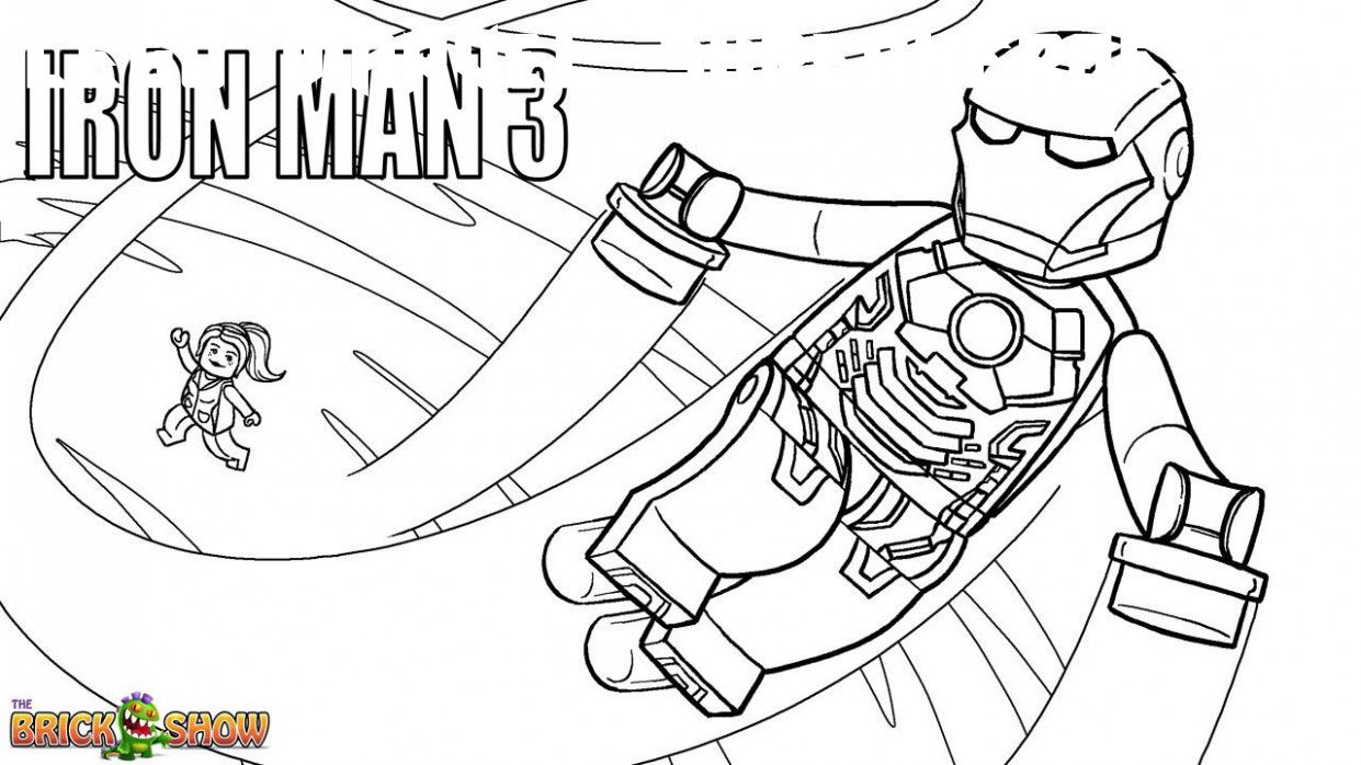 6 Lego Marvel Superheroes Coloring Pages in 2020