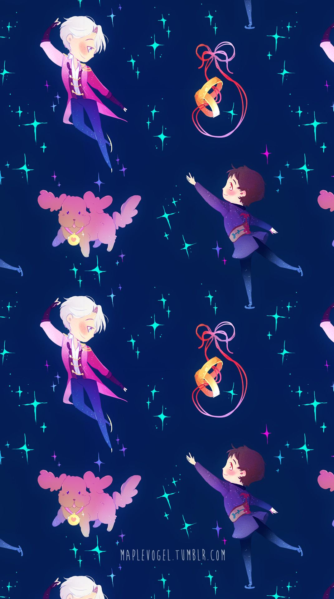 A tiny ship lost at sea... — New version of my earlier Victuuri patterns after...