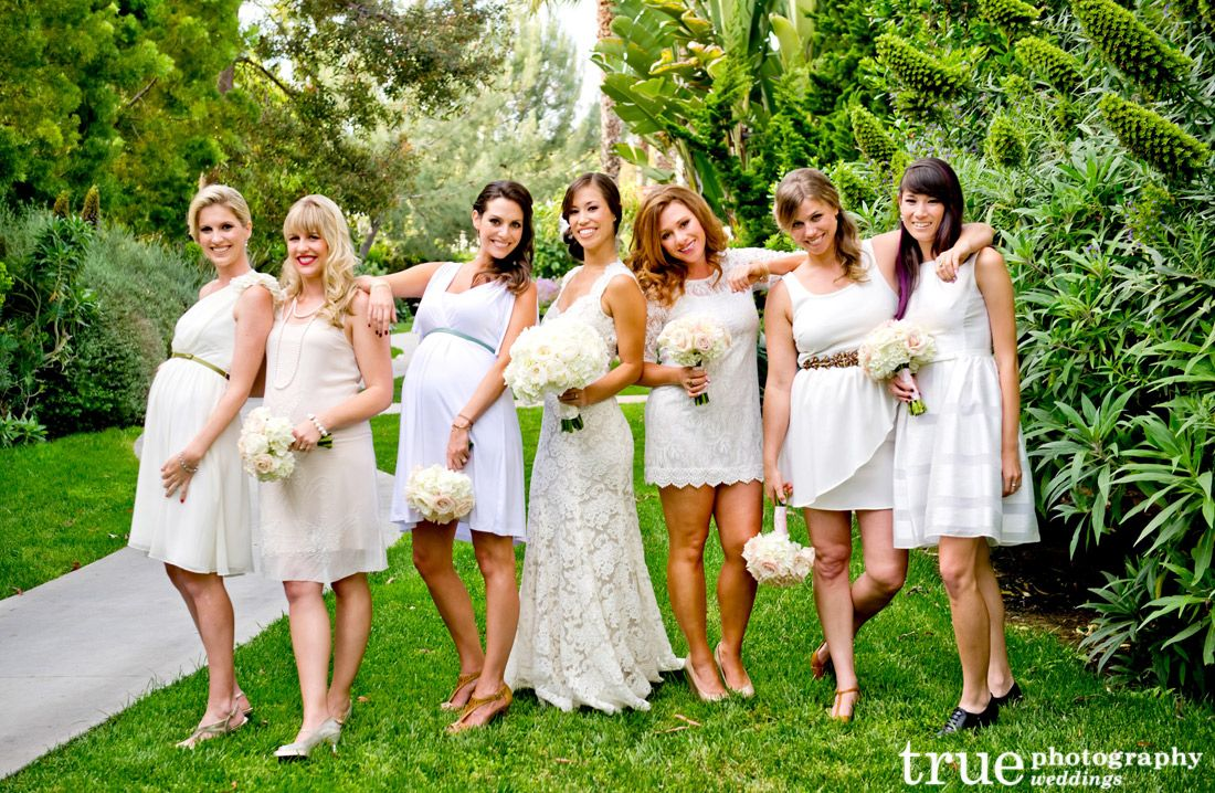 Cream and ivory bridesmaids dresses from our blog pinterest cream and ivory bridesmaids dresses ombrellifo Images