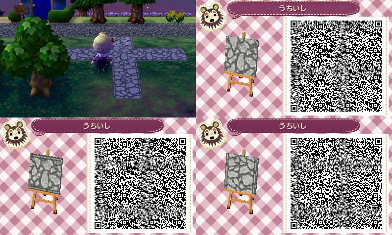 Animal crossing new leaf qr code paths pattern photo for Animal crossing mural