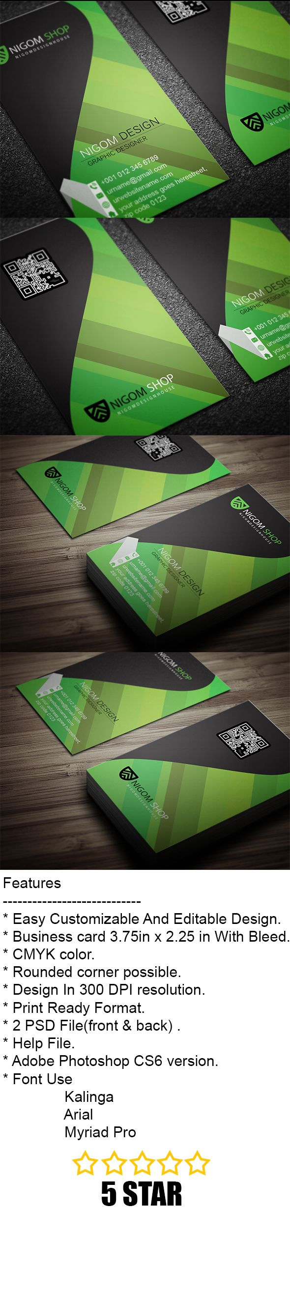 Design Business Card With Two Concepts Within 24 Hour Business