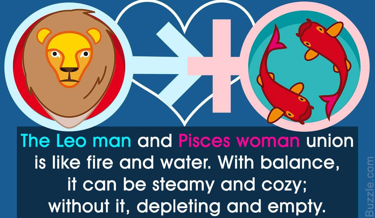 dating a leo man pisces woman