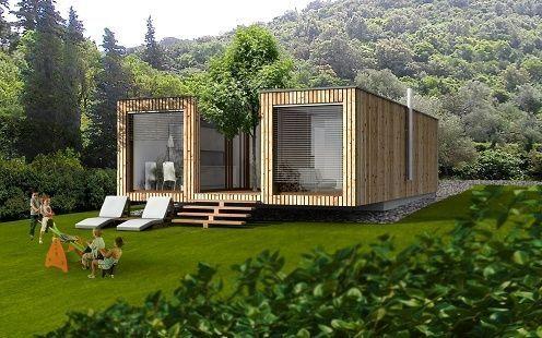 Maison Pr Fabriqu E Contemporaine Cologique En Bois Ek