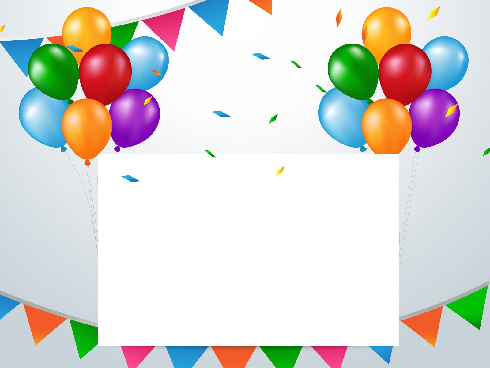 This Colourful Birthday Balloons powerpoint background designed