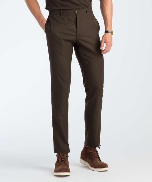 Wool Officer Pant in Dark Brown