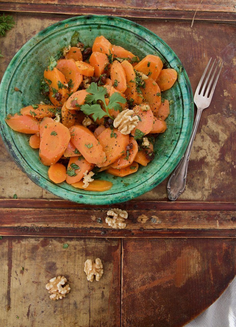 Orientalischer Karotten-Salat mit Rosinen und Walnüssen - Labsalliebe