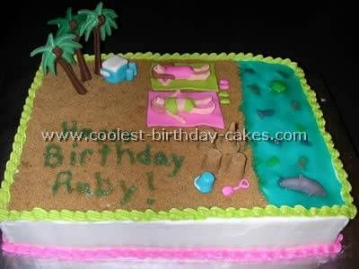 Coolest Beach Cake Ideas and Photos Beach cakes Homemade birthday