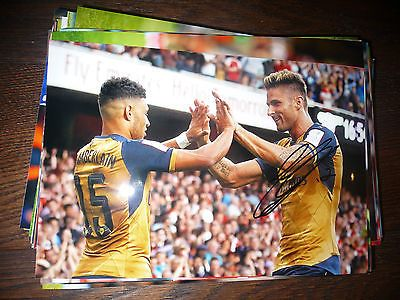 Olivier giroud arsenal fc #gunners hand #signed 12x8 photo #emirates,  View more on the LINK: http://www.zeppy.io/product/gb/2/121965659158/