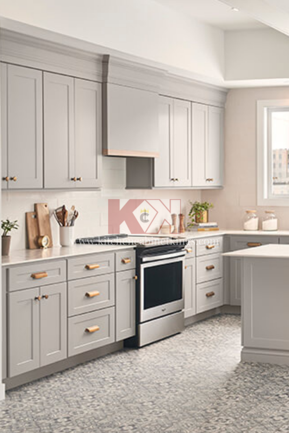 Bowery Pewter Usa Made Kitchen Cabinets In 2020 Assembled Kitchen Cabinets Kitchen Kitchen Cabinets