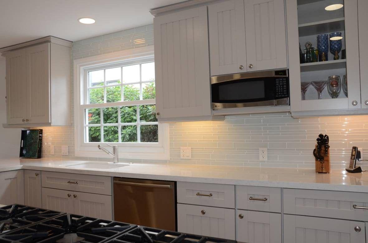 Lovely Glass Subway Tile Backsplash Stylish And Elegant White Kitchen Ideas