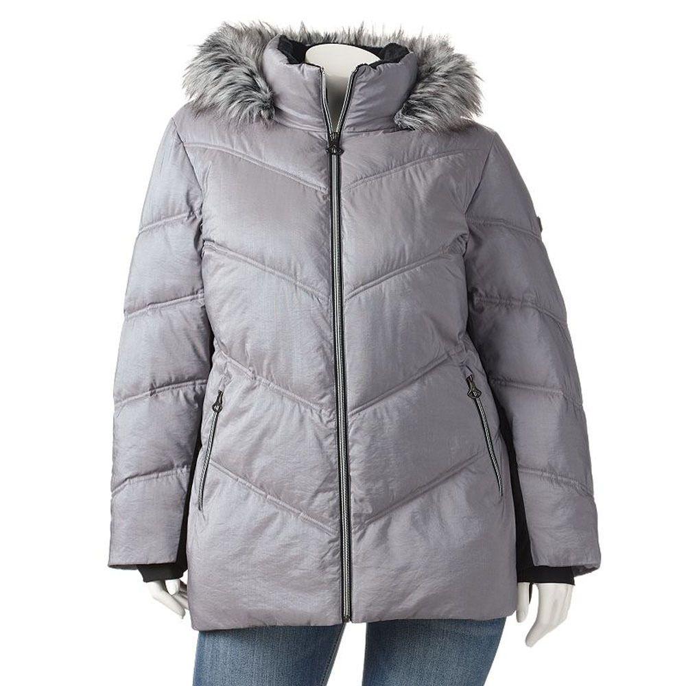 Zeroxposur Zxblk Hooded Puffer Jacket Women S 3xl New Nwt Zinc Gray Parka Anorak Jackets For Women Puffer Jacket Women Jackets [ 1000 x 1000 Pixel ]