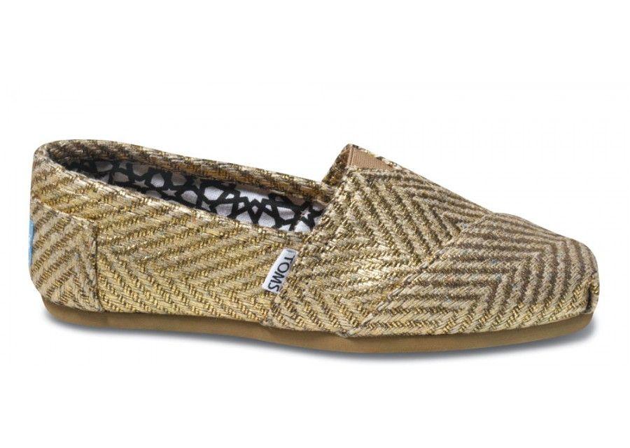 256b893a Gilded Herringbone Womens Classics side   Fashion Obsession   Toms ...