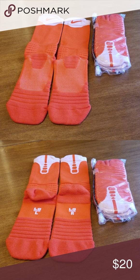 finest selection 8c806 6e576 Nike performance cushioned basketball socks NWT, in bag, Nike Elite orange    white basketball