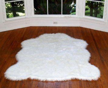 Amazon Com Fake Arctic Faux Fur Polar Bear Rug Large 4 6 X 6 8 155 Faux Sheepskin Rug Sheepskin Rug Bear Rug