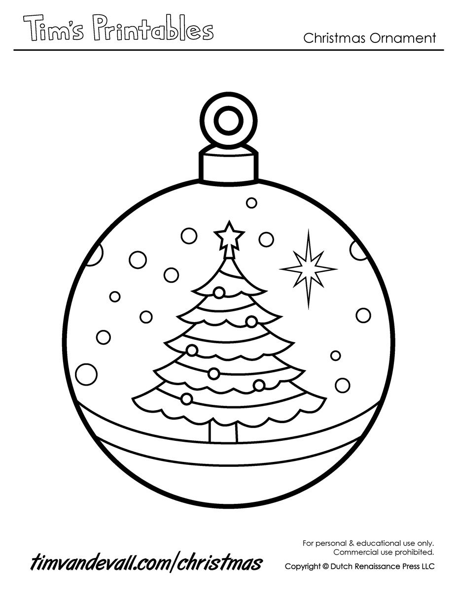 Christmas Ornaments to Print | Printable Paper Christmas ...