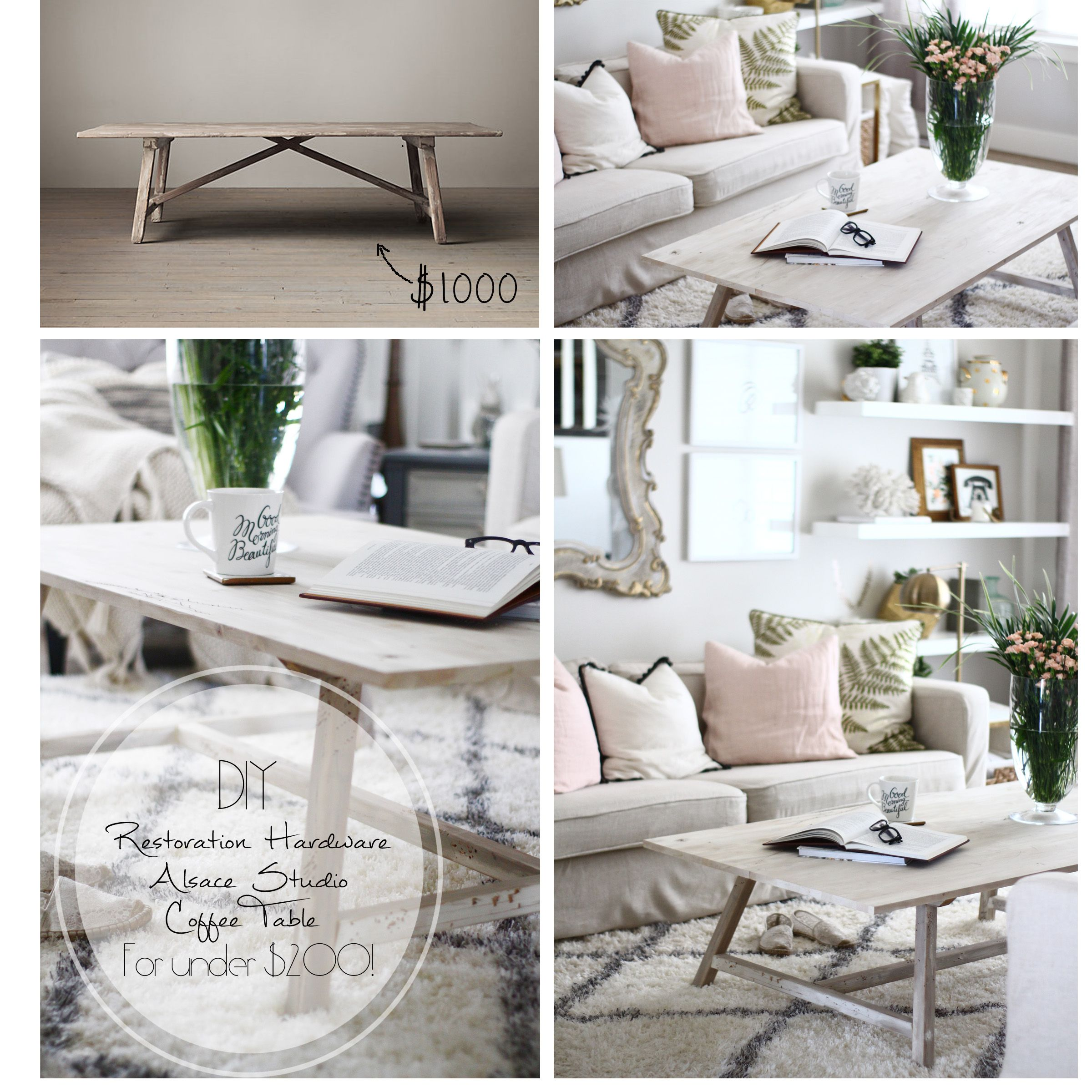 restoration hardware coffee table DIY | Craft Projects | Pinterest ...