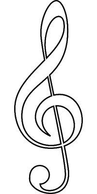 early play templates: Music coloring images in public