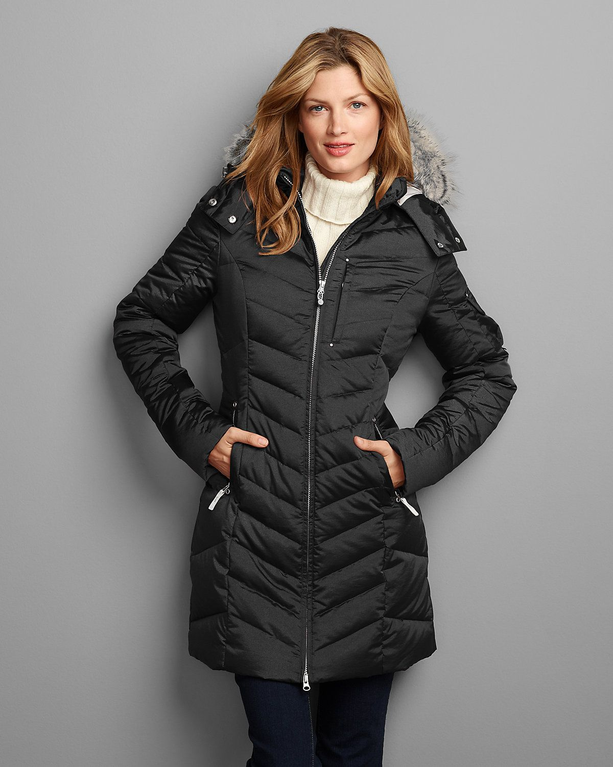 Women's Sun Valley Down Parka-Small in black | Eddie Bauer | I ...