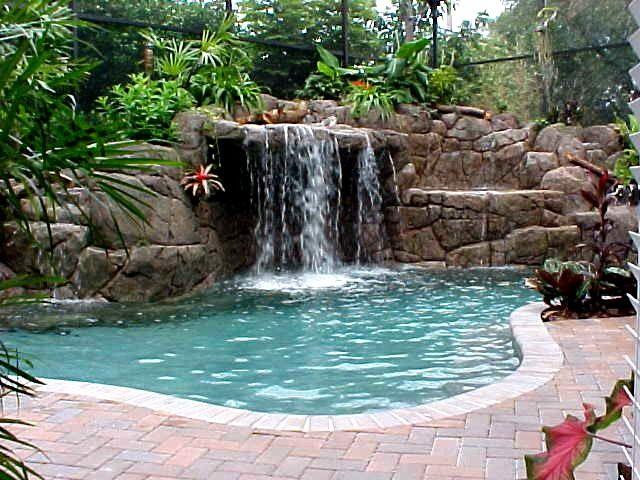 inground swimming pool designs beautiful swimming pool with waterfall tattoo. beautiful ideas. Home Design Ideas