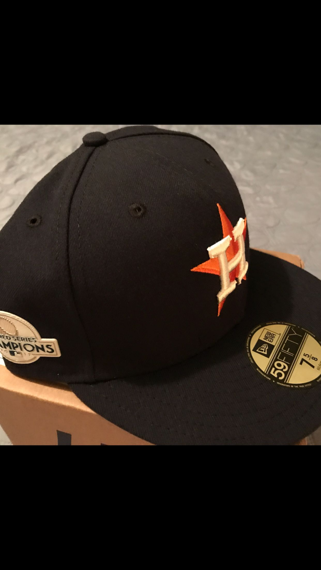 Houston Astros - new era 2017 World Series champions patch fitted hat. 7 5 8 663af4f4fc11