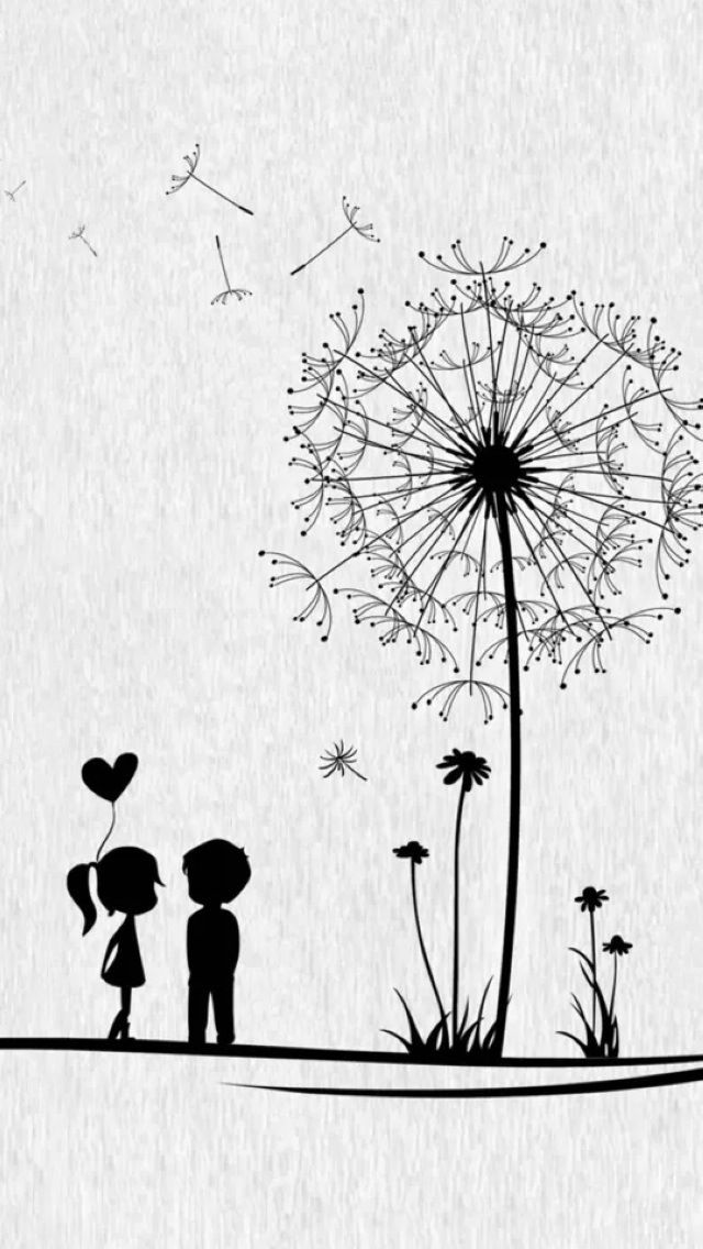 Make A Wish Dandelion free iPhone wallpaper downloads