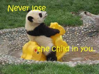 Never lose the child in you.
