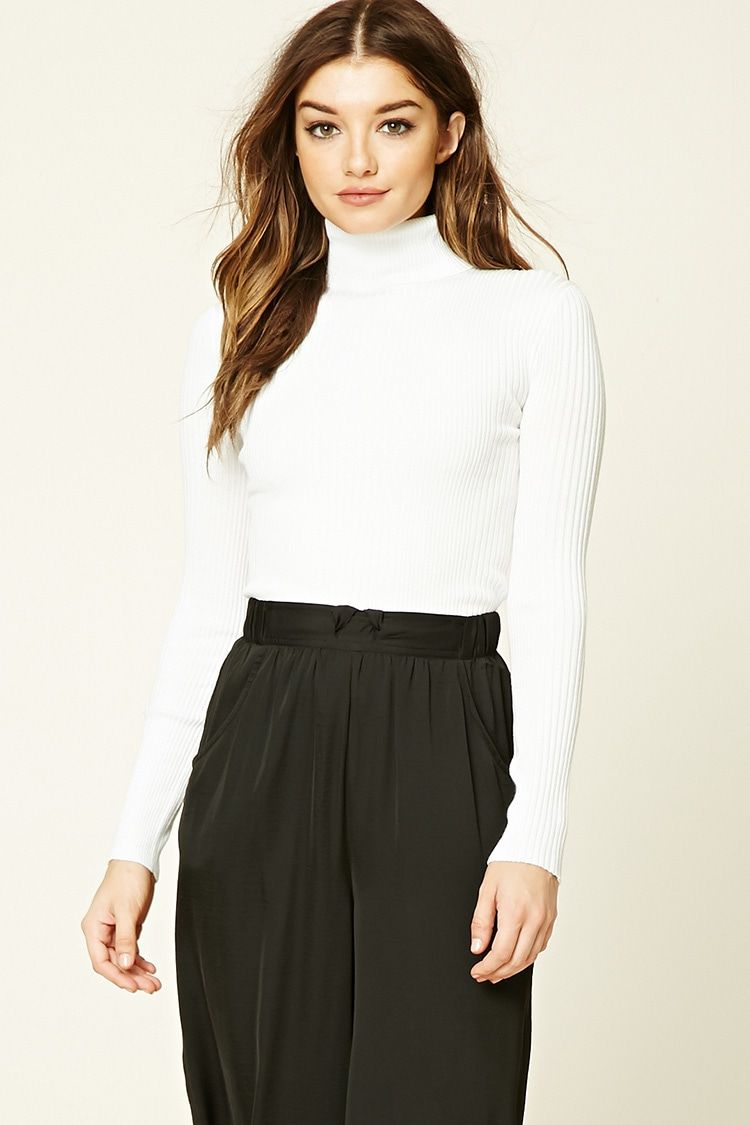 Forever 21 Ribbed Turtleneck Sweater $12 - A ribbed knit sweater ...