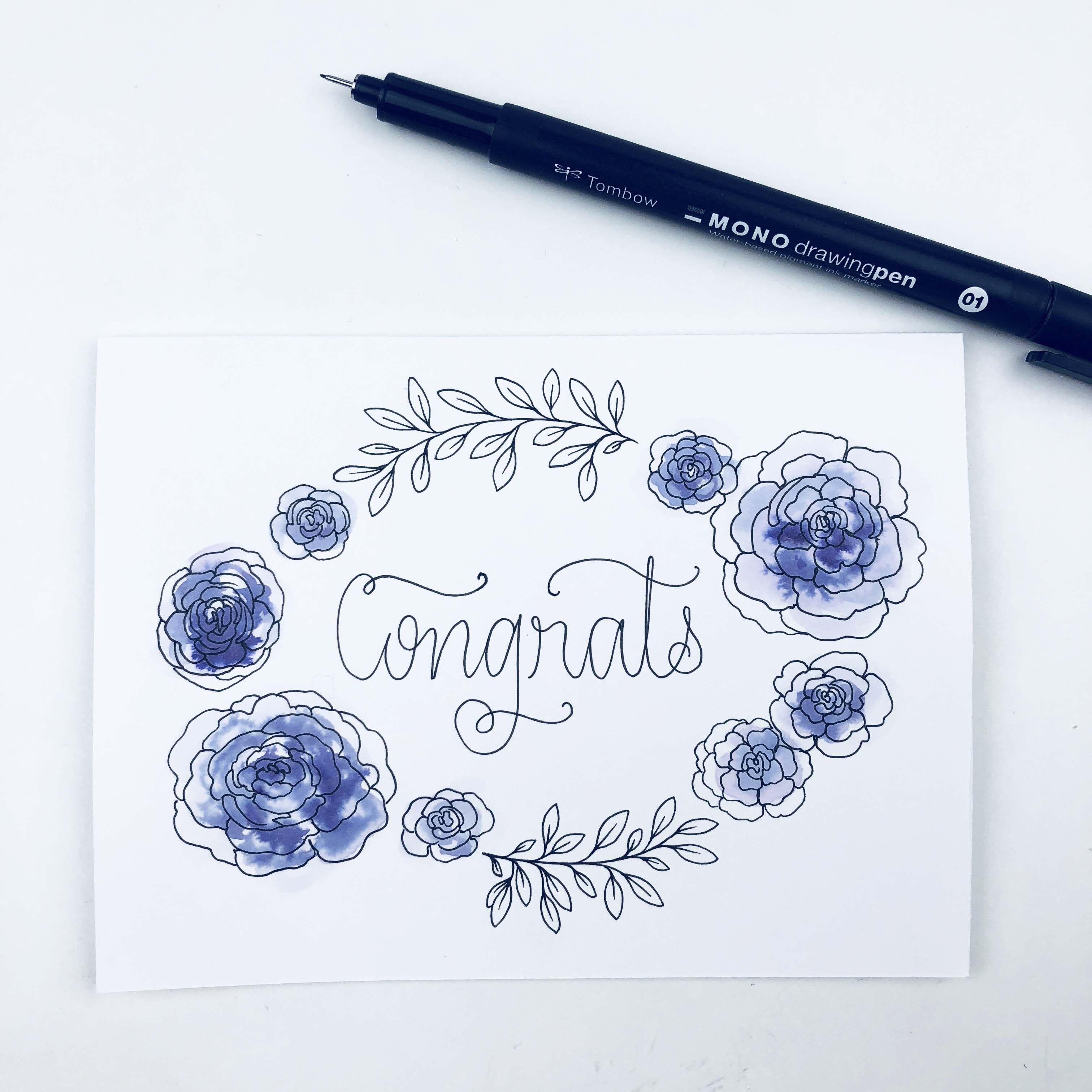 Make Your Own DIY Wedding Congratulations Card Wedding