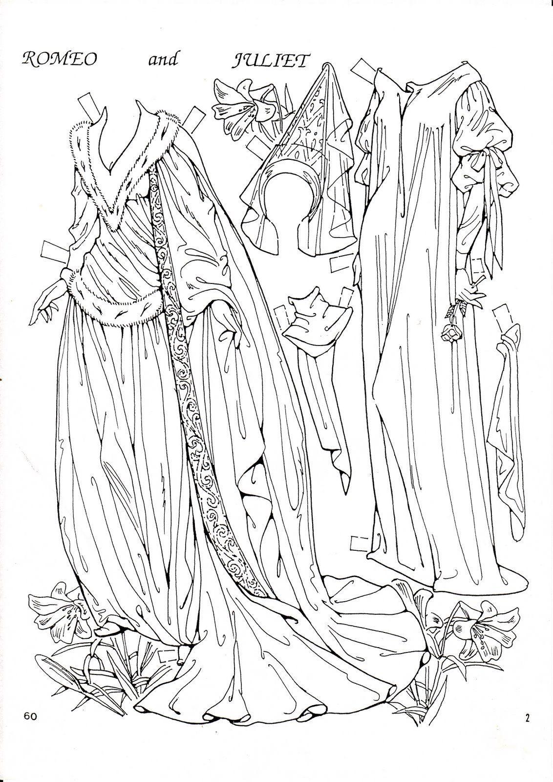 рисунок ромео и джульетта раскраска чем носить