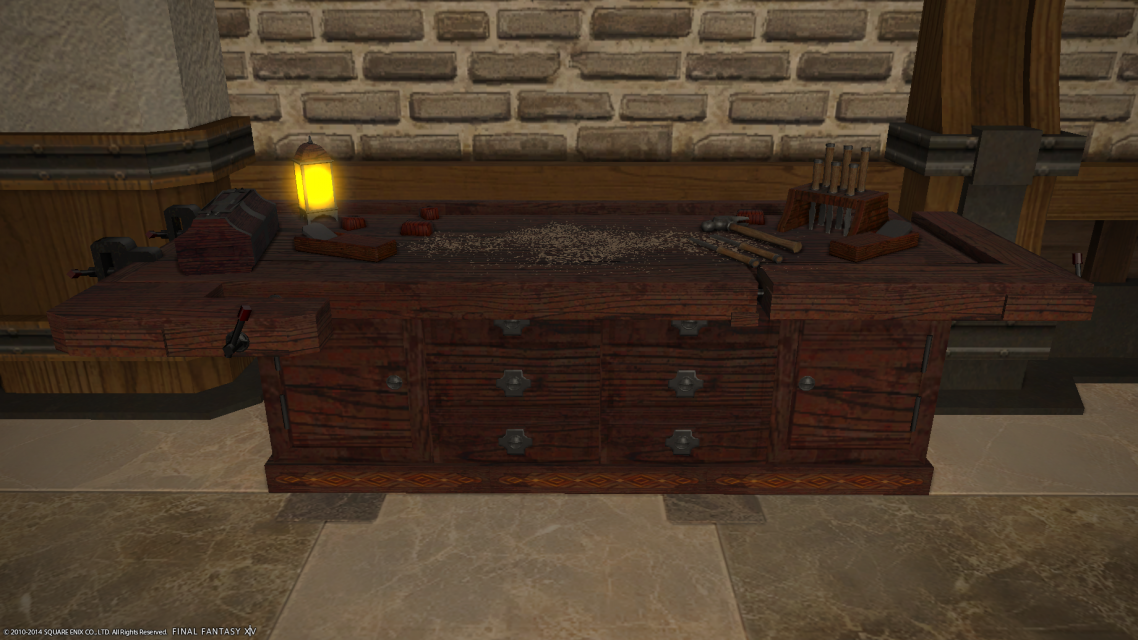 Final Fantasy Xiv A Realm Reborn Ffxiv Arr Database Woodworking Bench Furniture Carpenters Level