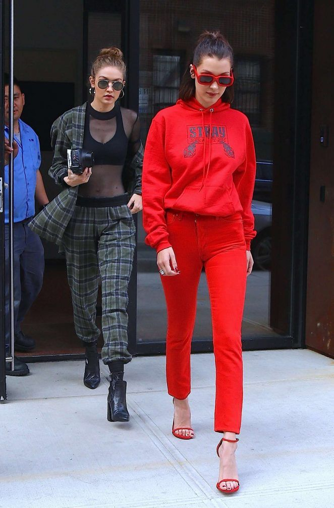 Gigi and Bella Hadid - Out and about in NYC | street style ...