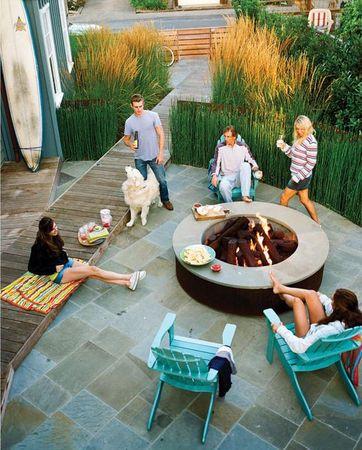 feu de camp styl espace ext rieur pinterest feu de camp feu et ext rieur. Black Bedroom Furniture Sets. Home Design Ideas